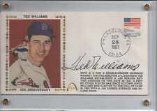 Ted Williams Autograph Gateway 40th Anniversary Silk Cachet Envelope