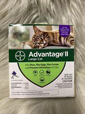 Genuine Bayer Advantage Ii Flea Control For Cats Over 9 Lbs-New 4 Doses