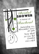 A6x10 Bridal shower invite cards hen party Bride to be personlised inc envelope