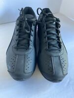 Puma Men's Black Synthetic Leather Lace Up Low Top Athletic Shoes Size US 12