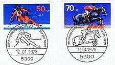 Frg 1978: Downhill Skiing + Show Jumping No. 958 + 968! Bonner Special Postmark!