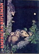 1962 American Rifleman Magazine: Opossum Family in N.C.