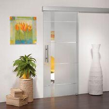 Glasschiebetür SD745F Alu60 B2 Klarglas, Kristallrillenschliff 900 x 2050 mm