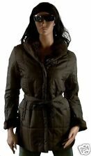 Kurz Mantel Winter Jacke CHOCOLATE BRAUN Fell M/L 40/42