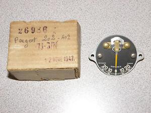 NOS PEUGEOT 202 402 AMPERES AMMETER GAUGE FACE & NEEDLE 26986 7J-3/N 1947