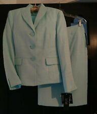 """NWT Le Suit  Sz 10 """"Windsor Blue Topaz"""" Lined Skirt Suit GORGEOUS! $200"""