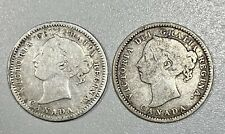 1880 and 1887 Canada 10c Silver