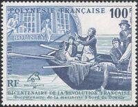 French Polynesia 1989 Bounty/Revolution/Ships/Boat/Transport/Art 1v (n36010)