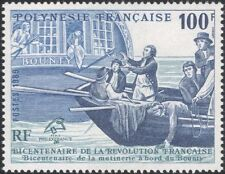 Polinesia FRANCESE 1989-mela/RIVOLUZIONE/Nave/Barca/Trasporto/ARTE 1 V (n36010)