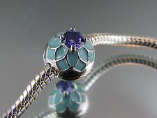 BLUE ENAMEL & INLAID CRYSTAL STOPPER BEAD FOR EURO STYLE CHARM BRACELET (SB 028)