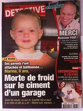 DETECTIVE du 20/6/2012; Mort de Thierry Roland/ Le Mans, Marina à 8 ans