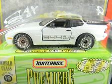 WHITE PORSCHE 944 TURBO SUPER CARS PREMIERE COLLECTION SERIES 19 MATCHBOX