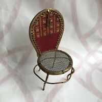 Antique Watch Stand French 19th Century Chair Embroidered Napoleon III Pocket
