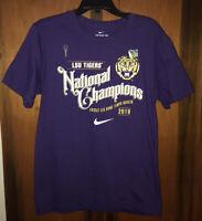 Nwot Men's Nike LSU Tigers 2019 Football National Champions T-Shirt. Sz Large