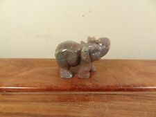 New ListingNatural Agate Carving Elephant