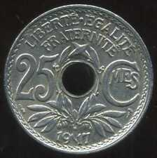 25 centimes  LINDAUER  1917 ( TTB )