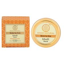 Khadi Natural Peach Lip Balm- With Beeswax & Honey (4 X 5g) Free Shipping