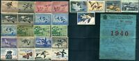 25 USA #RW Migratory Bird Hunting Duck Stamp Collection 1941-1978