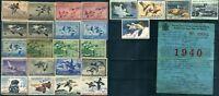 25 USA #RW Migratory Bird Hunting Duck Stamp Collection 1941-1978