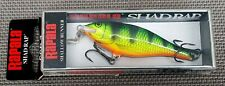 Hard to find Colour Rapala Shallow Shad Rap 7 cm. Fire Perch.