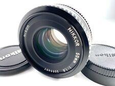 【N MINT】 Nikon Ai-s Ais NIKKOR 50mm F1.8 Pancake MF Lens Ship by DHL From JAPAN