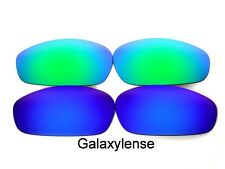 Galaxy Replacement Lenses For Oakley Whisker Sunglasses Blue&Green Polarized