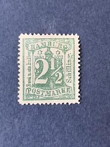 1864 Hamburg Sc# 23b, 2½s green
