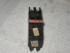 FPE Federal Pacific 50 Amp 2 Pole Type NC (Thin) NC250 Stab-Lok Circuit Breaker