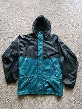 Vintage Helly Hansen Green Black Packable Windbreaker Jacket Size M