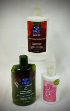 (3) KISS MY FACE Personal Care Products - Moisturiser/Soap/Bath & Shower Gel