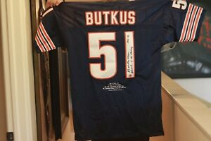 Dick Butkus Autographed 51 Jersey Limited Edition with Hologram Seal