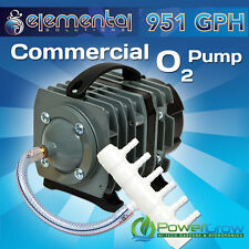 Air Pump, Commercial 951 gph Elemental O2 Aquarium Hydroponics Aquaponics Pond