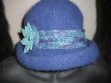 Handmade Wool Felt Hat w/Beads   Hat Hautees   6501