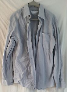 Calvin Klein slim fit 16 1/2 in collar grey fitted shirt Used