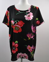 Ann Taylor Size LT Large Tall Floral Short Sleeve Blouse Women's Top