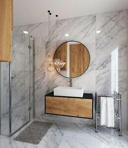 £25.89/m2 White Marble Effect High Gloss Porcelain Tile 120x60 Wall-Floor SAMPLE