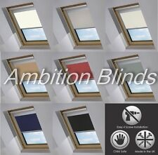 BLACKOUT SKYLIGHT ROLLER BLINDS FOR VELUX  ROOF WINDOWS ALL SIZES CHILD SAFE