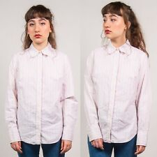 83825cf0f6 TOMMY HILFIGER WHITE STRIPED SHIRT WOMENS SMART WORK CASUAL PINK GREEN CUTE  14