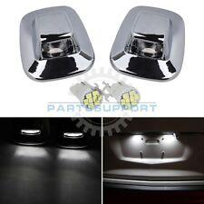 2x License Plate Light Lens White LED for 1985-2000 Chevy GMC Pickup Tahoe Yukon