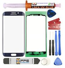 Samsung Galaxy S6 Edge OEM G925 Dark Blue Glass Lens Screen Replacement UV Glue
