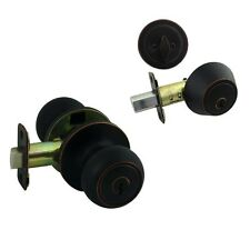 Cosmas 20 Series Oil Rubbed Bronze Combo Entry Knob and Deadbolt