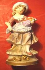Statuina ceramica marchio Napoleon ragazza con cesta frutta personaggio presepe