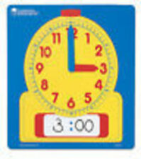 Learning Resources Write on Wipe Off Dry Erase Demonstration Clock LER 0573