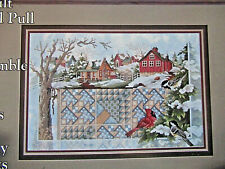 Winter's Warmth - Magazine cross stitch pattern - Barn Quilt Cardinal Snow