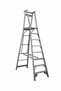 INDALEX Pro Series Aluminium Platform Ladder 11ft/8ft (3.4m/2.4m)