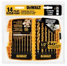 Dewalt, DW1354, 14 Piece, Titanium Pilot Point Drill Bit Set