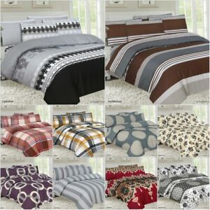 Complete 4 Pcs Bedding Sets Duvet  Quilt Cover+Fitted Sheet Single Double King
