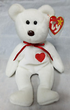 Ty Retired Beanie Baby Valentino The Bear - Extremely Rare with 7 Errors!