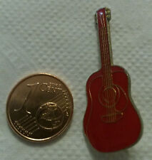 PINS PIN'S GUITARE GUITAR FOLK ROUGE EMAIL PORT A PRIX COUTANT