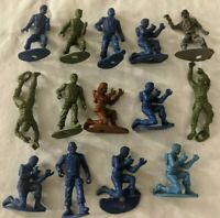 Vintage MPC Plastic Miniature Figure Lot - Western Cowboy and Civil War Soldiers